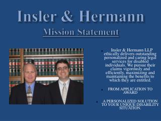 Insler  &  Hermann Mission Statement