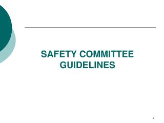 SAFETY COMMITTEE GUIDELINES