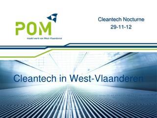 Cleantech  in West-Vlaandere n