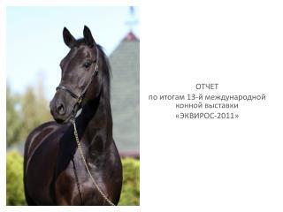 ОТЧЕТ  по итогам 13-й международной конной выставки «ЭКВИРОС-2011»