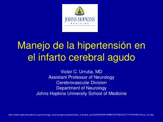 Manejo de la hipertensi n en el infarto cerebral agudo
