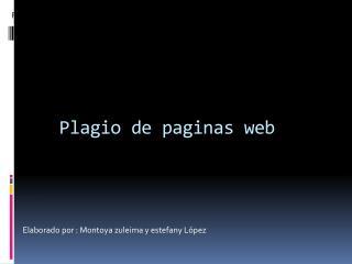 Plagio de paginas web