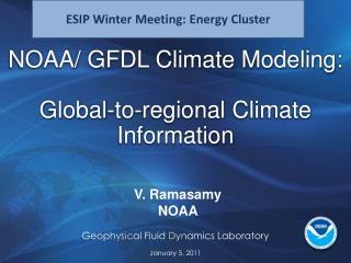 V.  Ramasamy NOAA