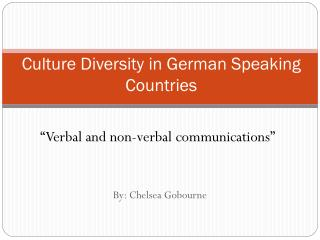 Culture Diversity in German Speaking Countries