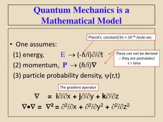 Quantum Mechanics is a   Mathematical Model