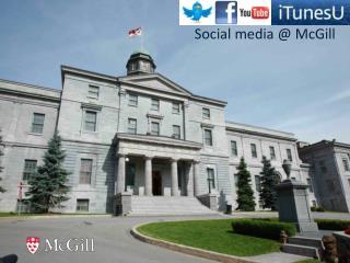 Social media @ McGill