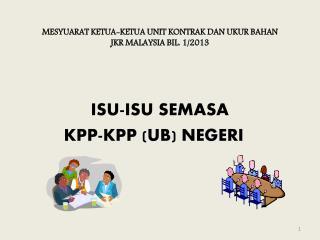 MESYUARAT KETUA-KETUA UNIT KONTRAK DAN UKUR BAHAN  JKR MALAYSIA BIL. 1/2013