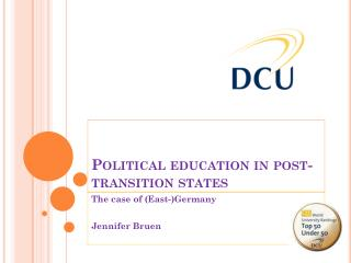 Political education in post-transition states