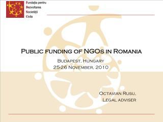 Public funding of NGOs in Romania