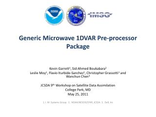Generic Microwave 1DVAR Pre-processor Package