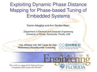 Exploiting Dynamic Phase Distance Mapping for Phase-based Tuning of Embedded Systems