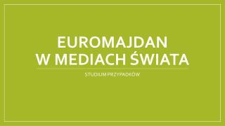 Euromajdan  w mediach świata