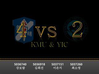 4  vs   2 KMU & YIC