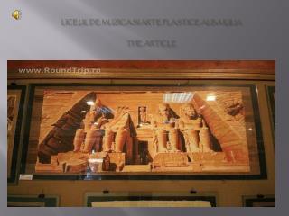 LICEUL DE MUZICA SI ARTE PLASTICE ALBA IULIA The Article