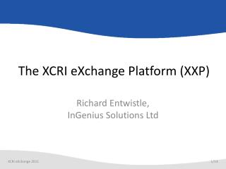 The XCRI eXchange Platform (XXP)