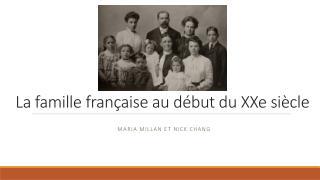 La  famille fran�aise  au d�but  du  XXe  si�cle