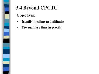 3.4 Beyond CPCTC