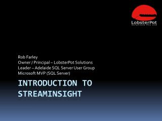 Introduction to StreamInsight