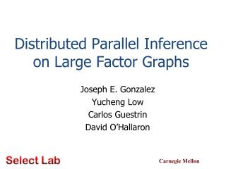 Distributed Parallel Inference on Large Factor Graphs