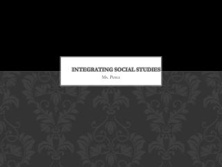 Integrating Social Studies
