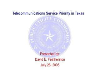 Telecommunications Service Priority in Texas