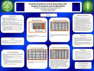Smoking Prevalence and its Association with  Surgical Procedures and Co-Morbidities Spring Golden1, Hang Saito2, Alan Su