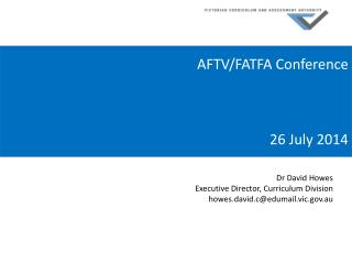 AFTV/FATFA Conference 26 July 2014