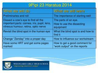 9Pipi 23  Haratua  2014