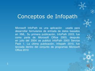 Conceptos de  Infopath