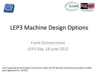 LEP3 Machine Design Options