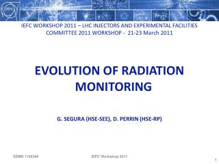 Evolution of radiation monitoring G. Segura (hse-see), D. PERRIN (HSE-RP)
