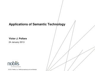 Applications of Semantic Technology