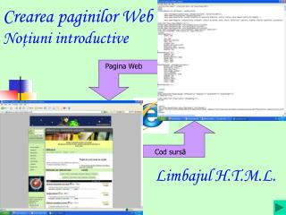 Creare a paginilor Web No ţ iuni introductive