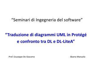 �Seminari di Ingegneria del software�