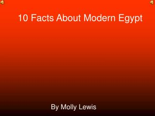 10 Facts About Modern Egypt