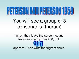 You will see a group of 3 consonants (trigram)