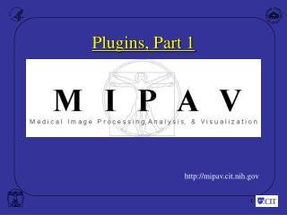 Plugins, Part 1