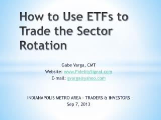 How to Use ETFs to Trade the Sector Rotation