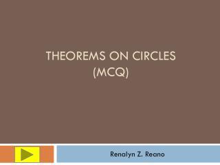 Theorems On Circles (MCQ)