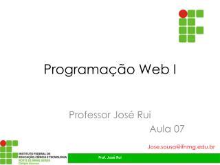 Programação Web I