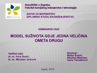 Studenti:  Matea Šutalo                    Nikolina  Martinec  Ivana  Tomašković