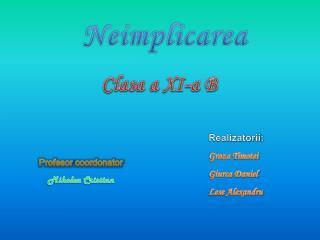 Clasa  a XI-a B