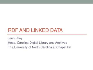 RDF and Linked Data
