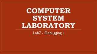Computer System Laboratory