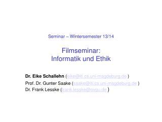 Seminar   Wintersemester 11