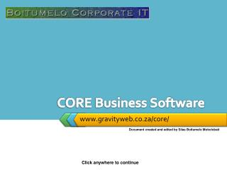 CORE Business Software