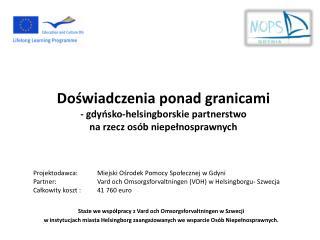 Staże we współpracy z Vard och Omsorgsforvaltningen w Szwecji