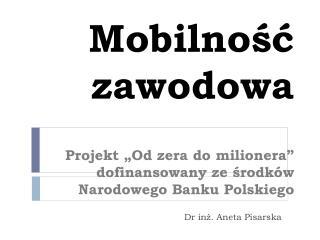 Dr in?. Aneta Pisarska