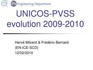UNICOS-PVSS evolution 2009-2010