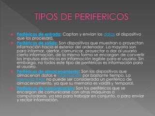 TIPOS DE PERIFERICOS